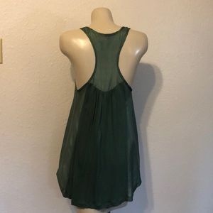 Anthropologie Tops - Silk and knit racer back tank